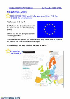 Interactive worksheet European union