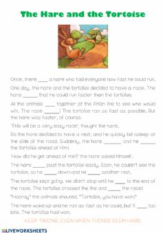Interactive worksheet The hare and the Tortoise