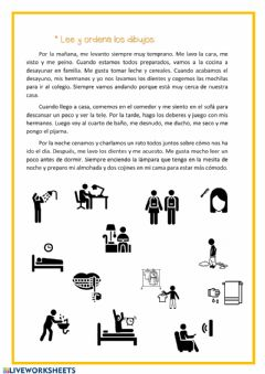 Interactive worksheet Lee y ordena