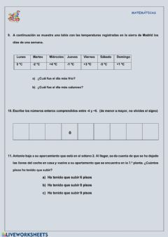 Interactive worksheet Julma-mat6-enteros04