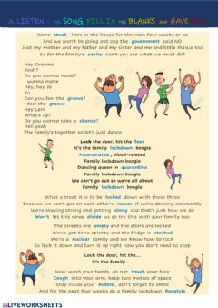 Interactive worksheet Covid boogie