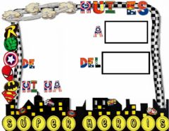 Interactive worksheet Calendari superheroi
