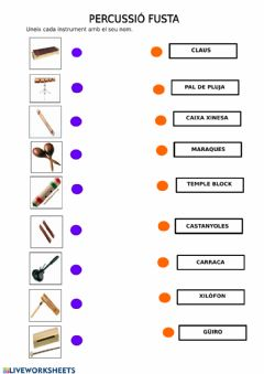 Interactive worksheet Percussió fusta