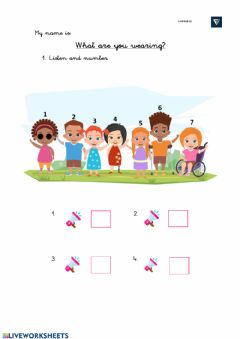 Interactive worksheet Listening: Clothes