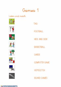 Interactive worksheet Games