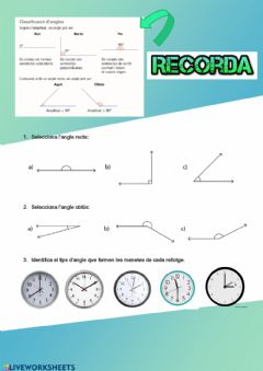 Interactive worksheet Tipus d'angles