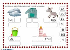 Interactive worksheet Letra b