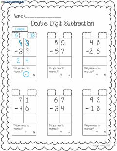 Interactive worksheet Subtracting with Regrouping