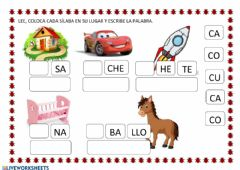 Interactive worksheet Letra c