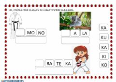 Interactive worksheet Letra k