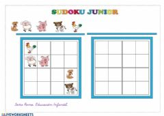 Ficha interactiva Sudoku junior