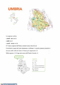 Interactive worksheet Umbria