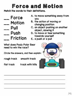 Interactive worksheet Forces matching
