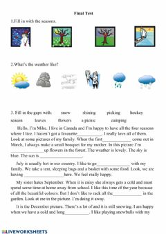 Interactive worksheet Final teast weather