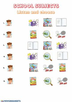 Interactive worksheet School subjects f&f2