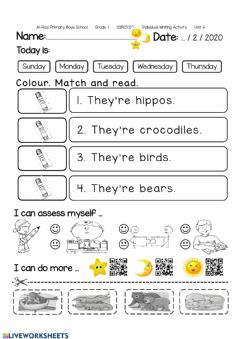 Interactive worksheet They're hippos.