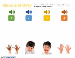 Interactive worksheet Clean and Dirty