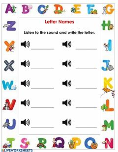 Interactive worksheet Listen and write the letter.