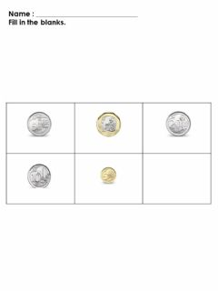 Interactive worksheet Fill in the blanks, coins