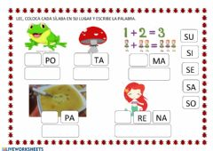 Interactive worksheet Letra s
