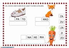 Interactive worksheet Letra z