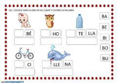 Interactive worksheet Letra b2