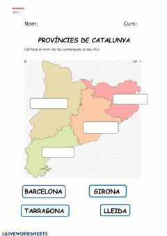 Interactive worksheet Províncies catalunya