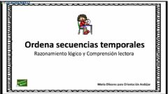 Interactive worksheet Ordena la secuencia escrita