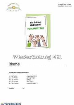 Interactive worksheet Wiederholung