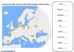 Interactive worksheet The most important rivers in europe