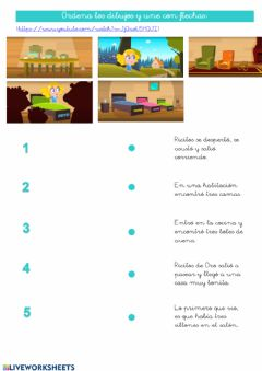 Interactive worksheet Ricitos de Oro