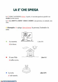 Interactive worksheet La è che spiega