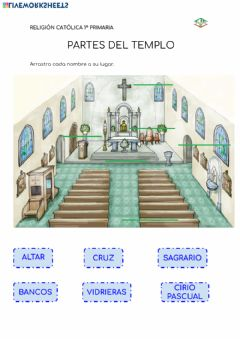Interactive worksheet Partes del templo