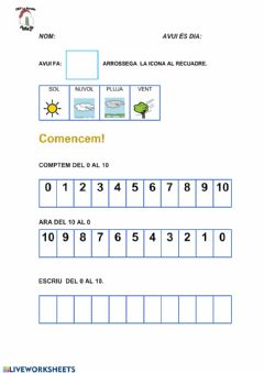 Interactive worksheet Mates dilluns 20 abril.