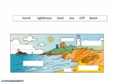 Interactive worksheet Coastal - Inland landscapes