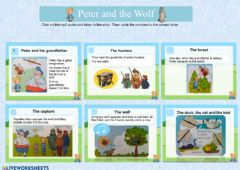 Ficha interactiva Peter and the Wolf Story