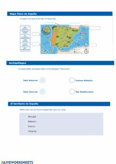 Interactive worksheet mapa interactivo