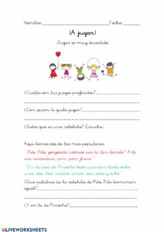Interactive worksheet Retahílas