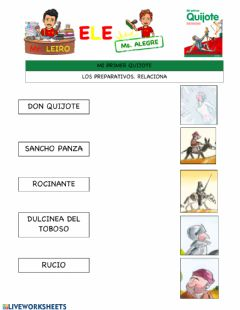 Interactive worksheet Preparativos: mi primer quijote