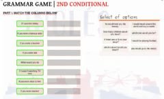 Interactive worksheet 2nd conditional