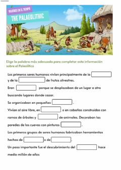 Interactive worksheet Ficha Paleolítico
