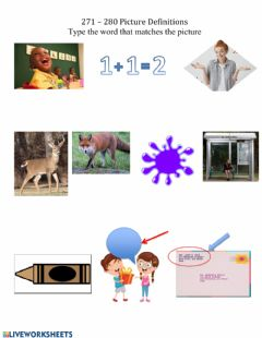 Interactive worksheet 271-280 Picture Definitions