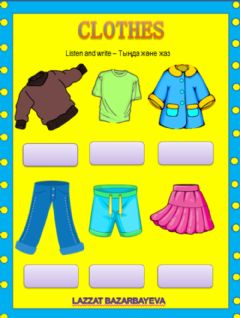 Interactive worksheet Clothes by Lazzat Bazarbayeva