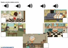 Interactive worksheet Family and house
