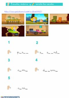 Interactive worksheet Ricitos de Oro - Nivel sencillo