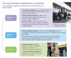 Ficha interactiva Movimientos migratorios