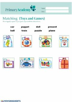 Interactive worksheet Toys and games 1
