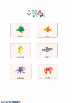 Ficha interactiva Sea Animals