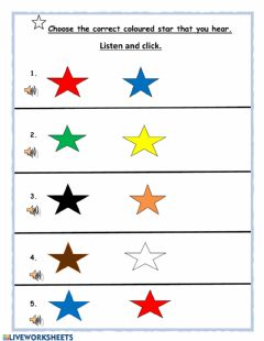 Interactive worksheet Los Colores - by Yvonne Daniel-Baron