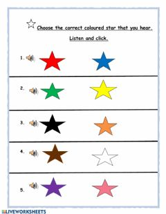 Interactive worksheet Los Colores (2) by Yvonne Daniel-Baron